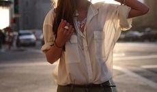 5 Стильных образов с блузкой из шелка или шифона