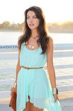 Платья мятного цвета